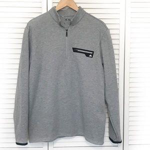 Adidas pull over 1/4 zip Gray sweatshirt